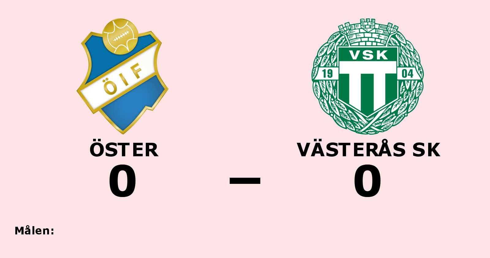 Mållöst mellan Öster och Västerås SK