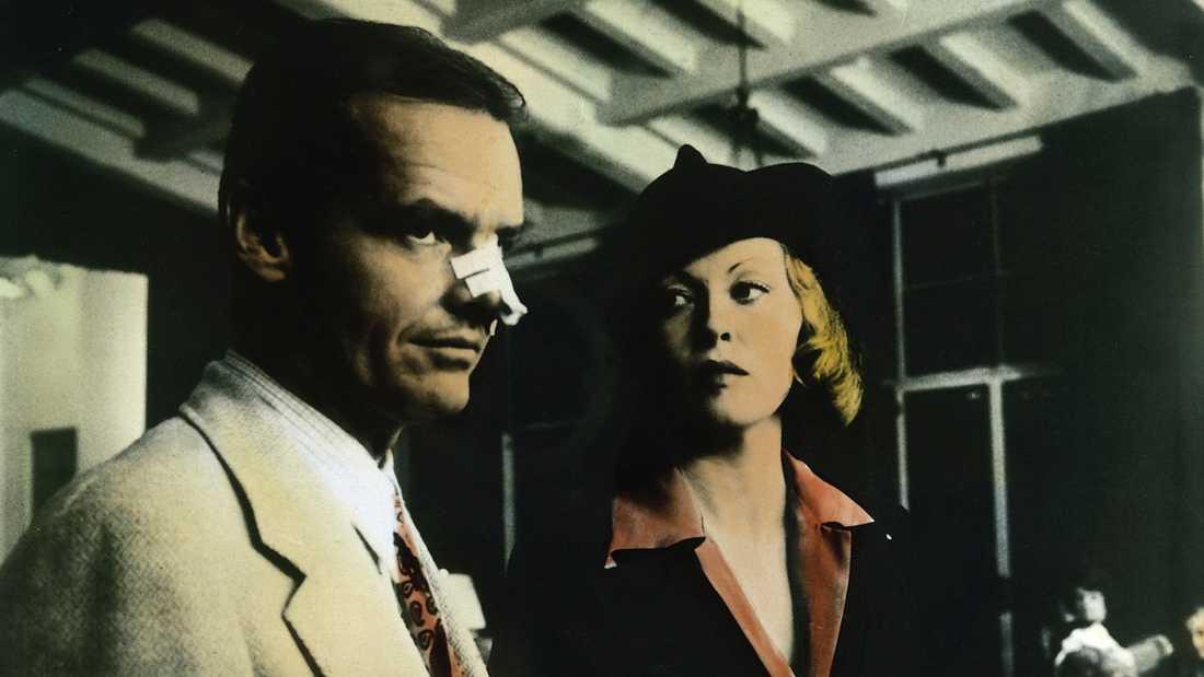 "Jack Nicholson och Faye Dunaway i ""Chinatown""."