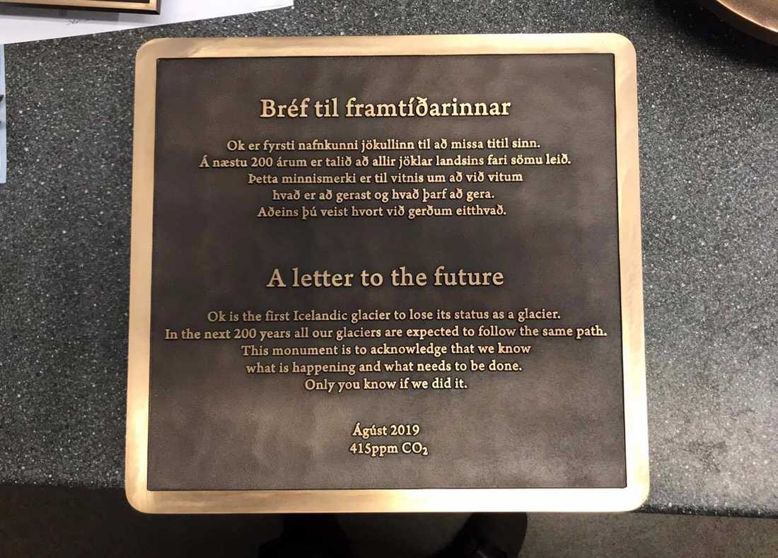 Brevet till framtiden, skrivet av Andri Snaer Magnason.