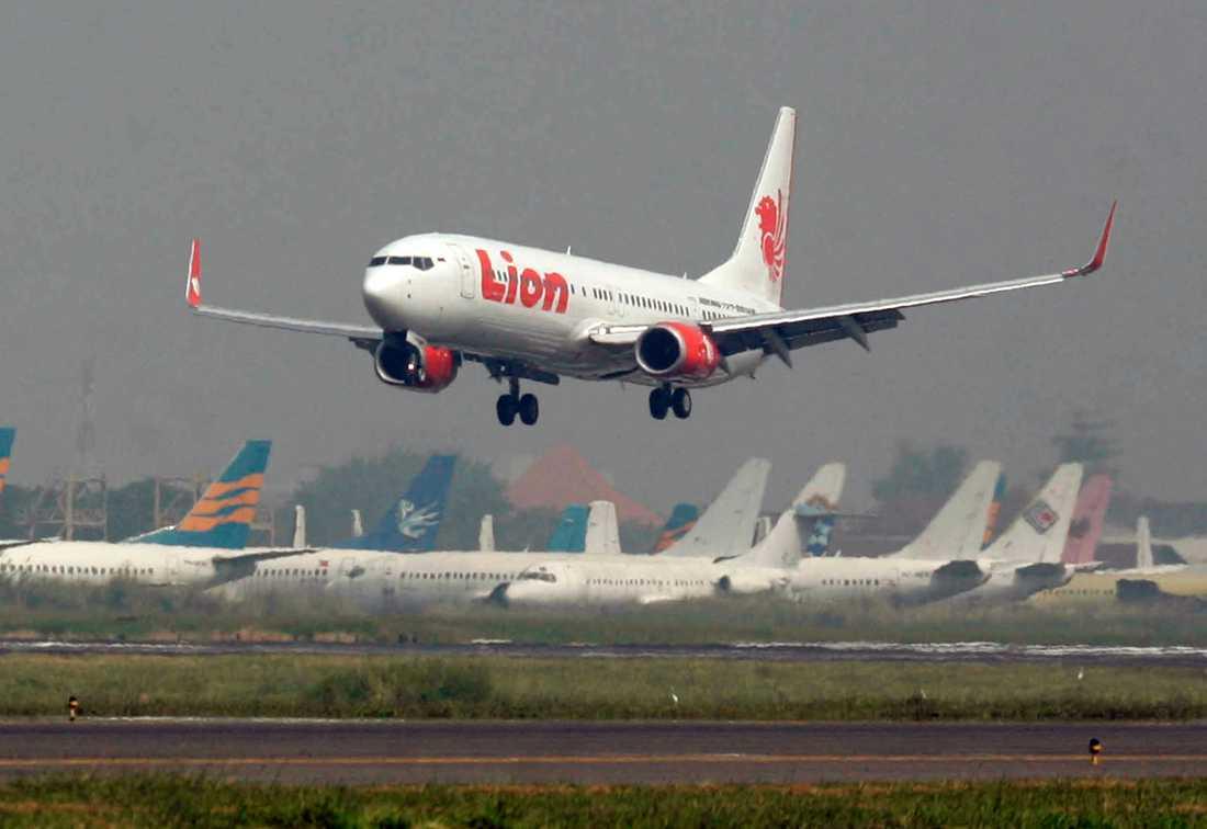 Ett flygplan från Lion Air har störtat. Arkivbild.