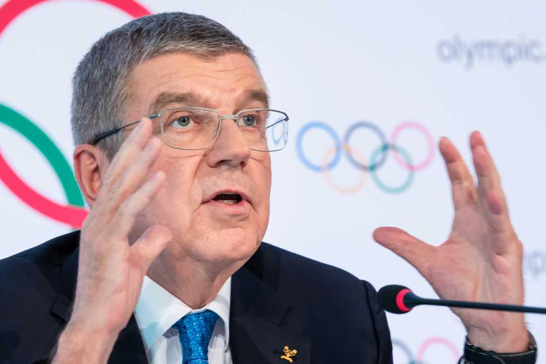Internationella olympiska kommitténs ordförande Thomas Bach. Arkivbild.