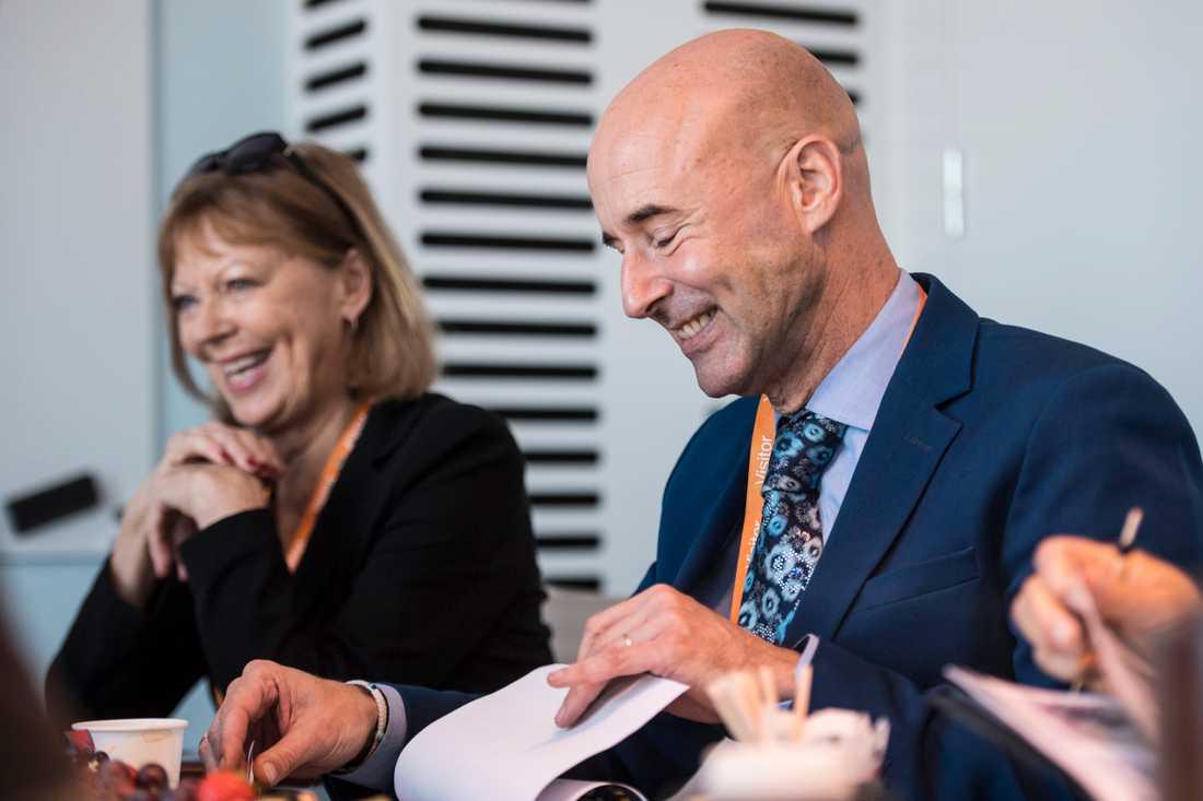 Andra jurymötet: Svårt men roligt, Lill Lindfors och Mark Levengood.