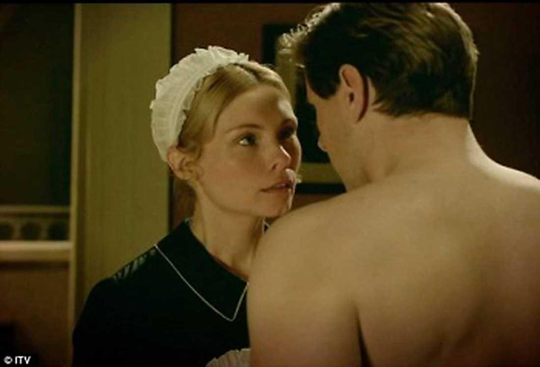 """Under julhelgen syntes MyAnna Buring som hembiträdet Edna i """"Downton abbeys"""" julspecial."""