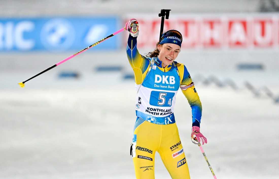 Hanna Öberg körde sistasträckan.