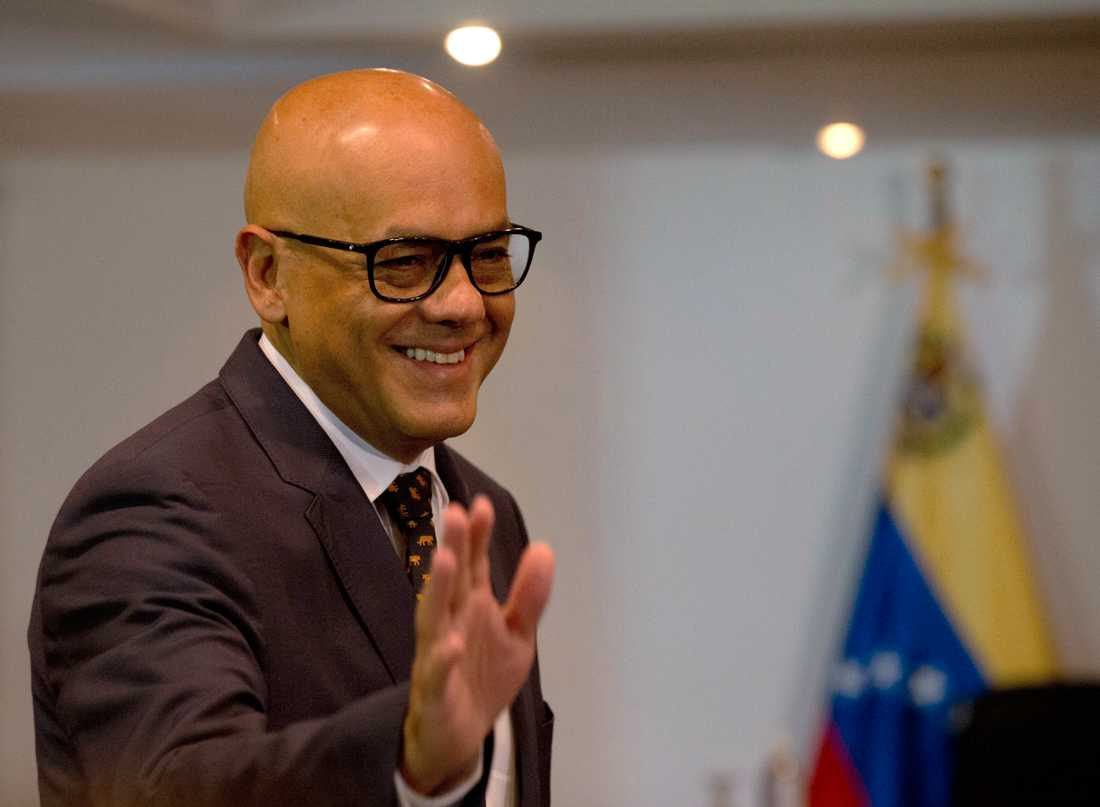 Venezuelas kommunikationsminister Jorge Rodríguez. Arkivbild.