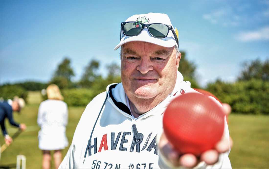 Pege Gustafsson har grundat krocketklubben Haverdals croquet club.