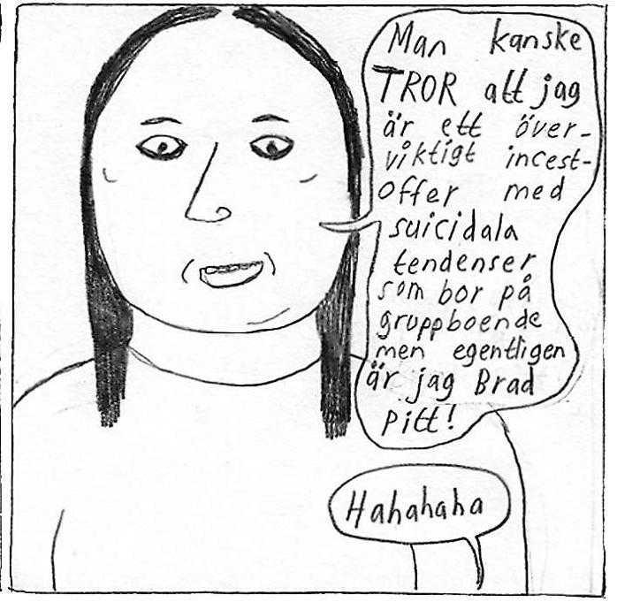 """Ur """"Hjärnan darrar"""" av Klara Wiksten."""