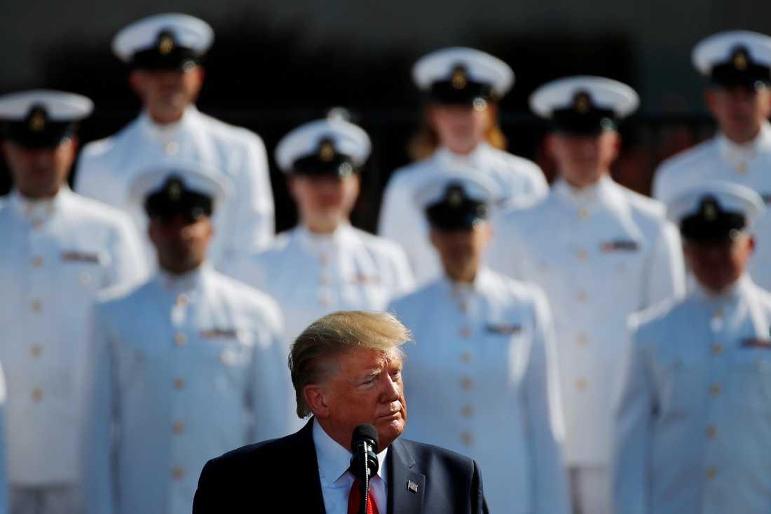 President Donald Trump vid en minneshögtid för offren för terrordåden den 11 september 2001.