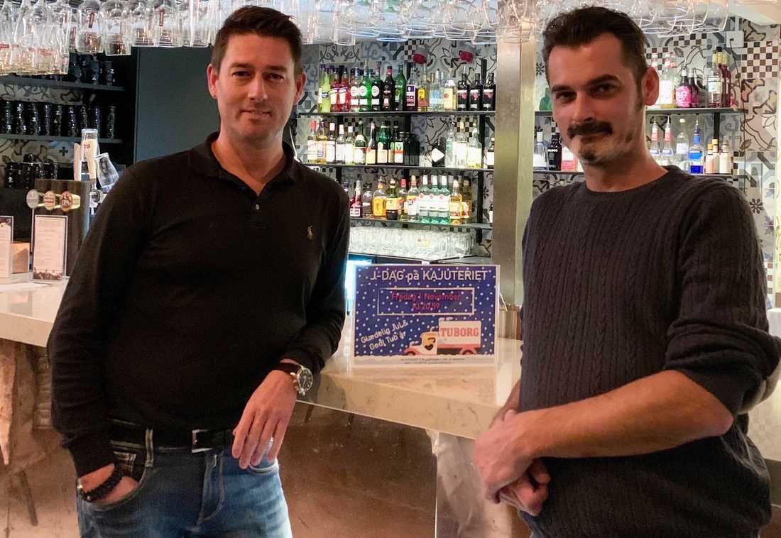 Daniel Frounberg, VD, och Miguel Maksymowicz, restaurangchef.