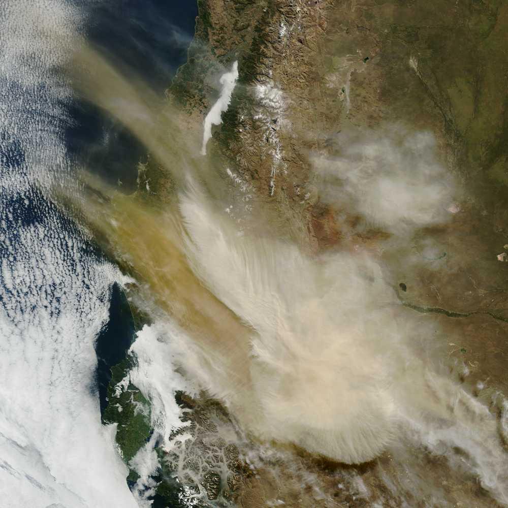 Askmolnets spridning syns från rymden