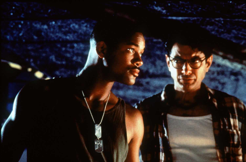"""Will Smith och Jeff Goldblum i actionäventyret """"Independence Day"""" från 1996."""