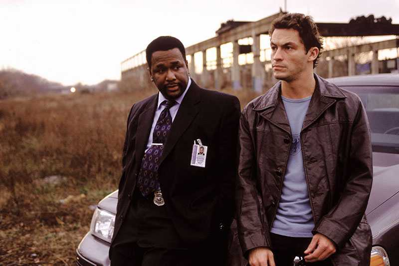 "Wendell Pierce och Dominic West i ""The Wire""."