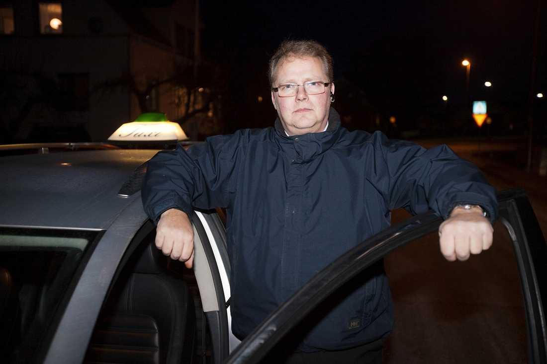Taxichauffören Ulf Johansson.