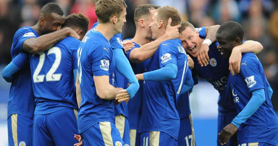 Leicester kan säkra ligatiteln på söndag.