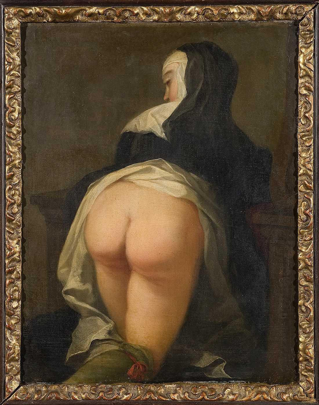 Baksidan på Meytens målning.