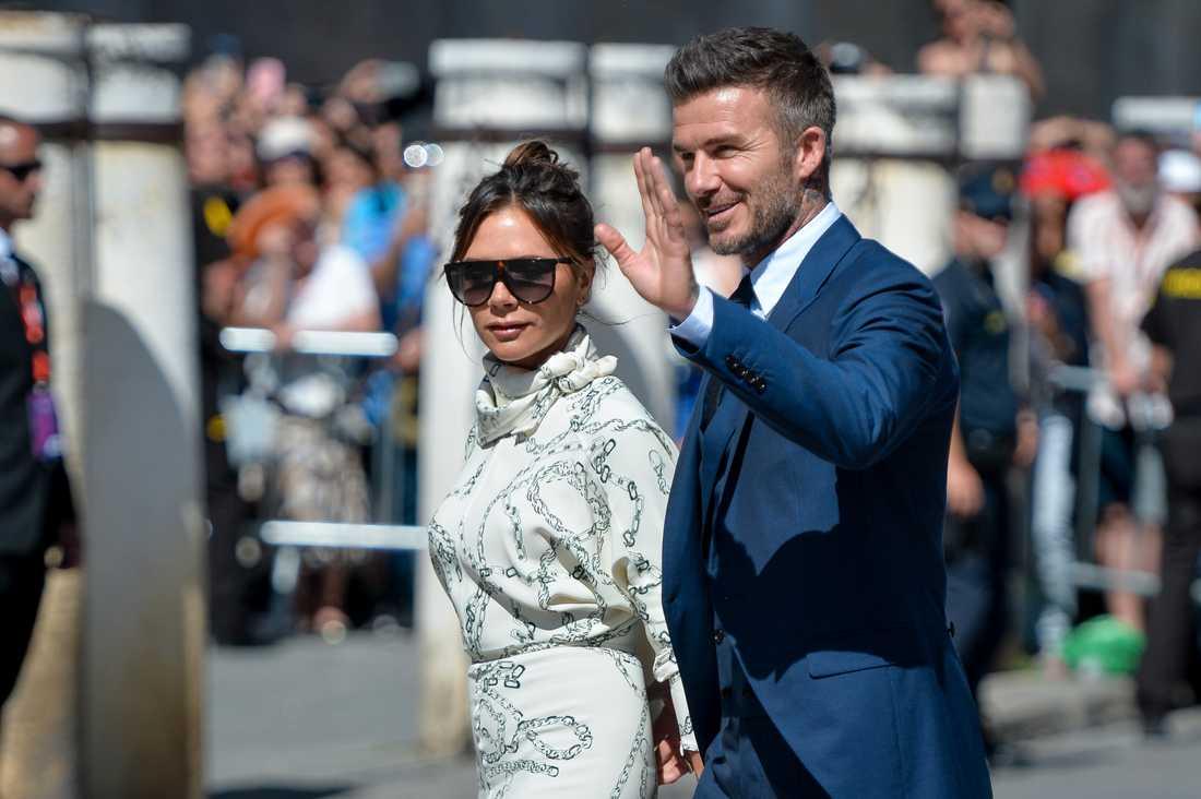 Victoria och David Beckham.