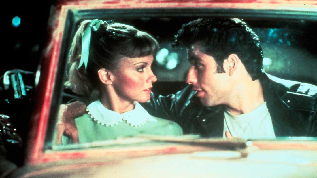 """Olivia Newton-John och John Travolta i filmen """"Grease""""."""