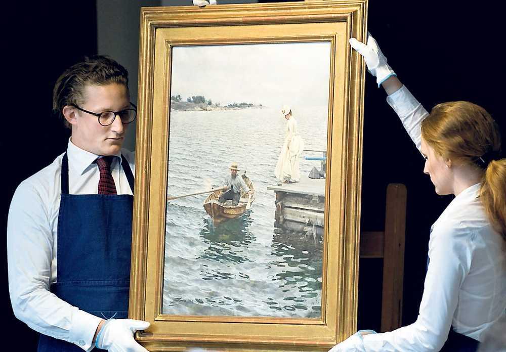 """zorntavlan Akvarellmålningen """"Sommarnöje"""" såldes på auktion till en svensk privatsamlare."""