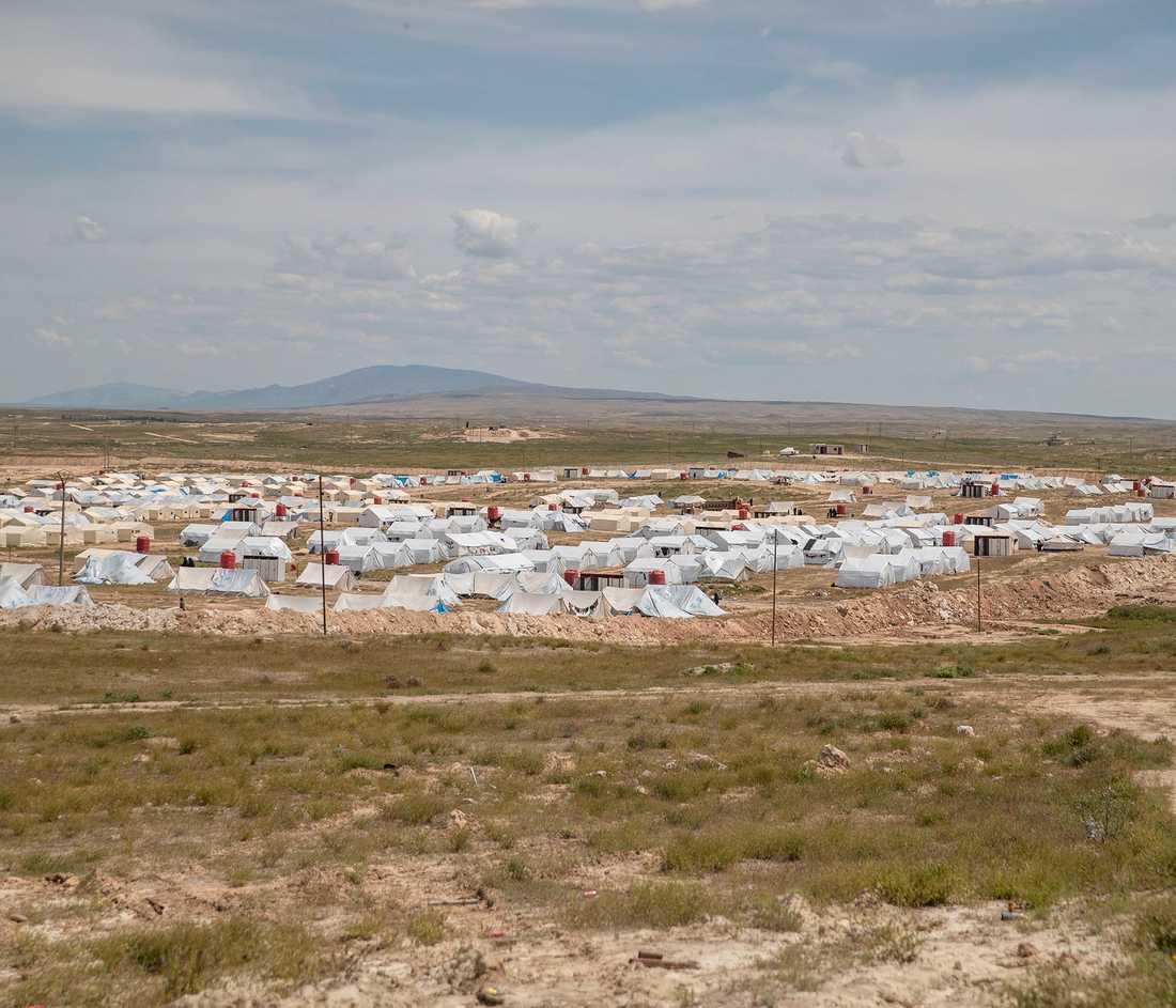 IS-lägret Al-Hol. Arkivbild från april i år.