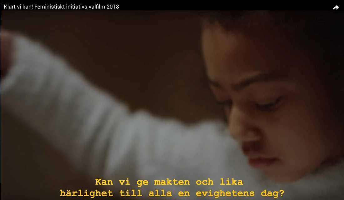 Bild ur Feministiskt initiativs valfilm.