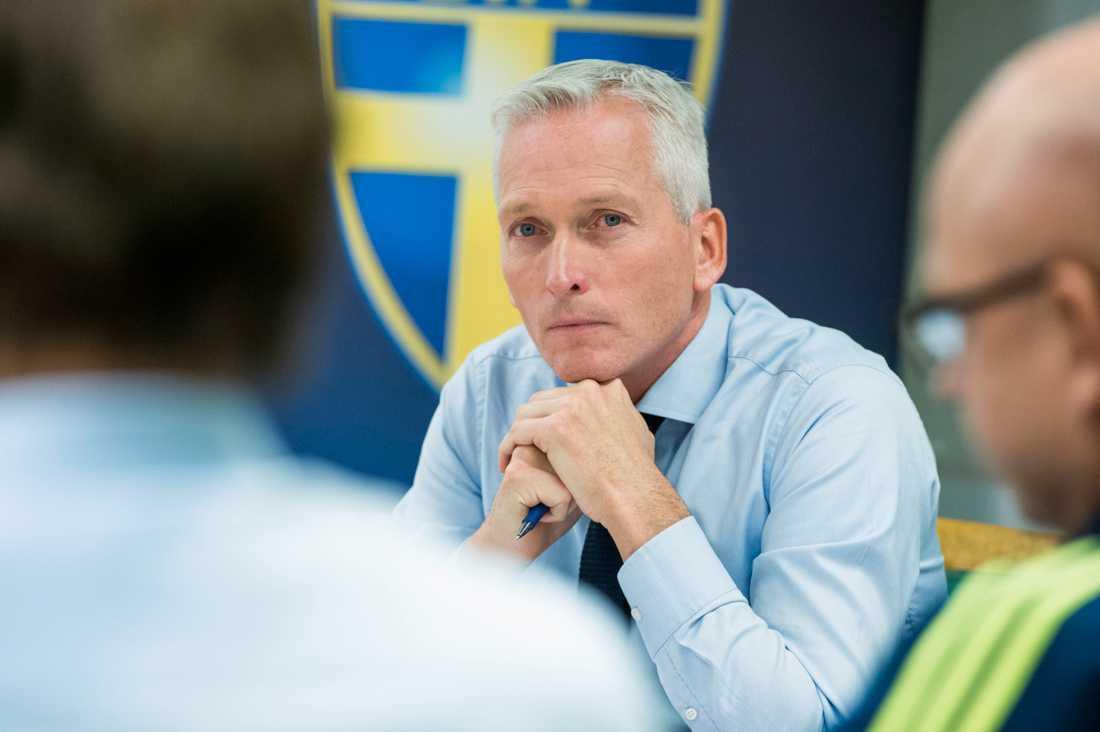 Svenska Fotbollförbundets generalsekreterare Håkan Sjöstrand.