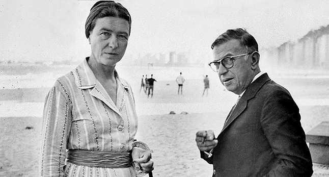 Två av existentialismens galjonsfigurer – livskamraterna Simone de Beauvoir och Jean-Paul Sartre i Rio de Janeiro 1960.