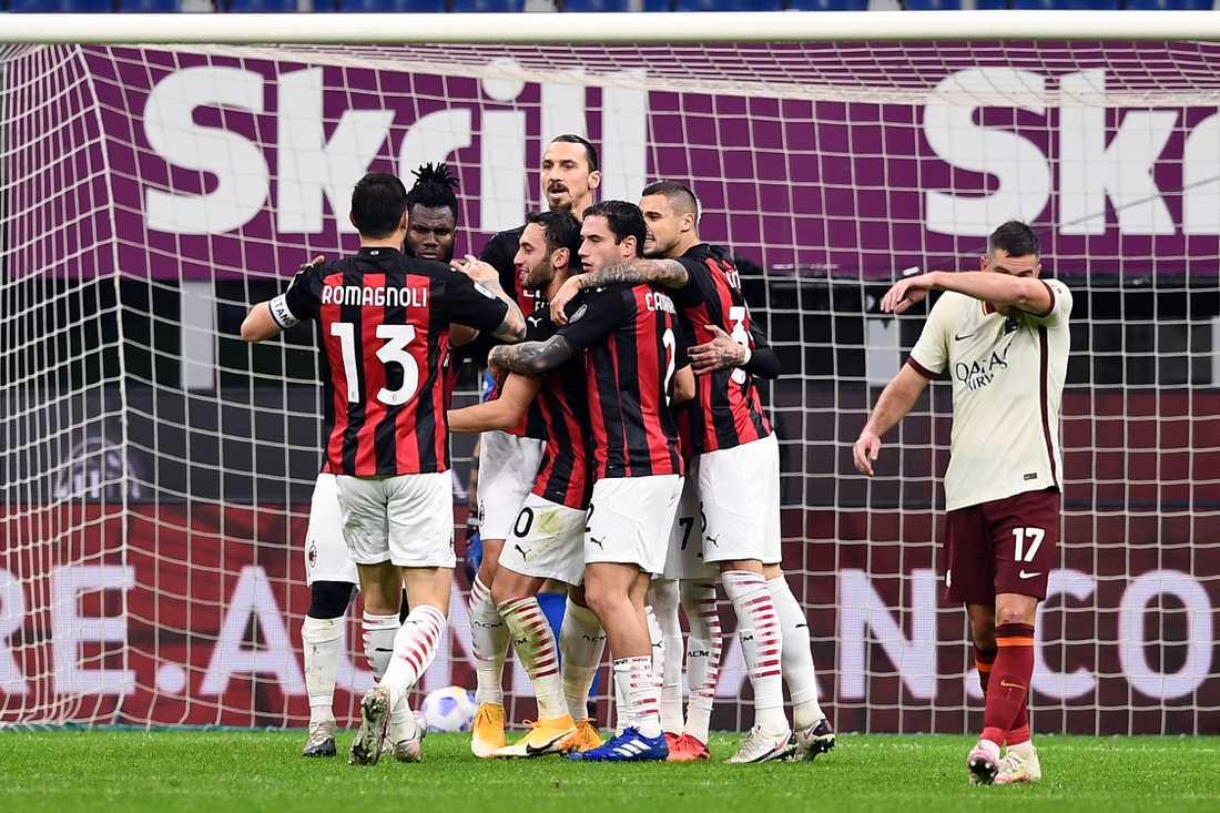 Zlatan gjorde två mål i kryssmatchen mot Roma på måndagskvällen.