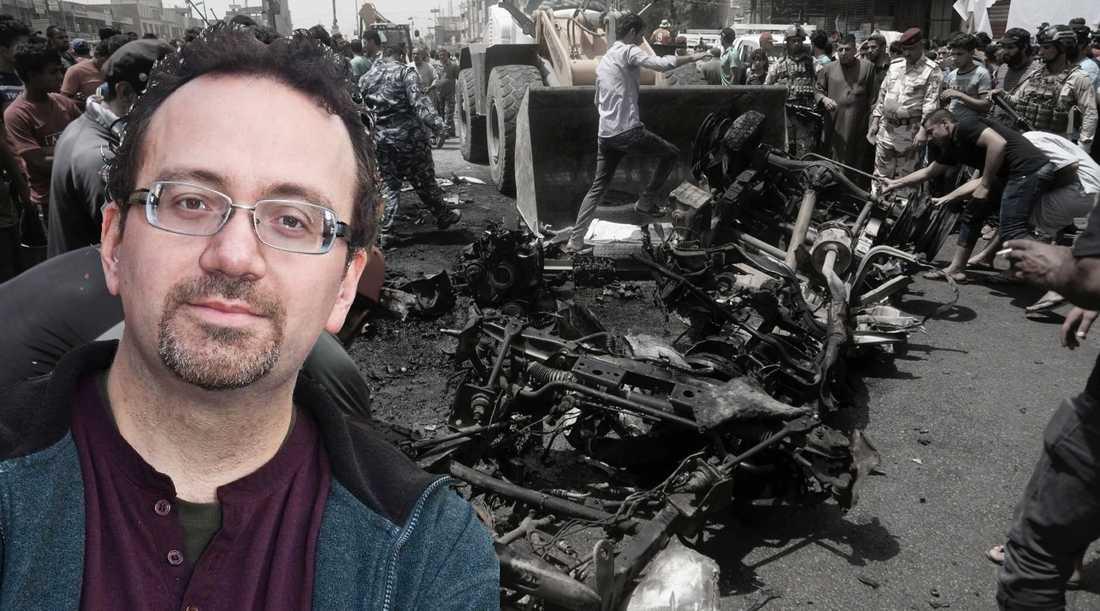 I onsdags dödades minst 64 människor, de flesta kvinnor, när en bilbomb exploderade på en shiamuslims marknad i Bagdad. IS tog på sig terrordådet. Samma dag debatterade Sveriges riksdag IS folkmord –på kristna. Politikerna som glömde shiamuslimerna bör be dem om ursäkt, skriver Torbjörn Jerlerup.