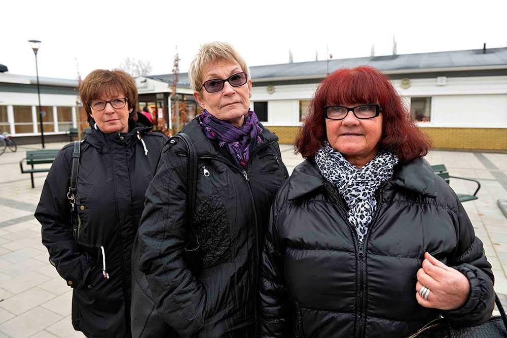 Birgitta Palm, Agneta Levinsson och Kristina Billman var med på olycksbussen.