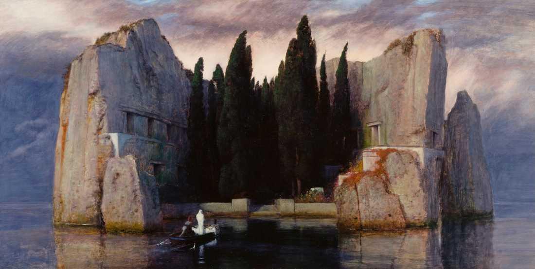 """""""Dödens ö"""" av den schweiziske konstnären Arnold Böcklin, 1880."""