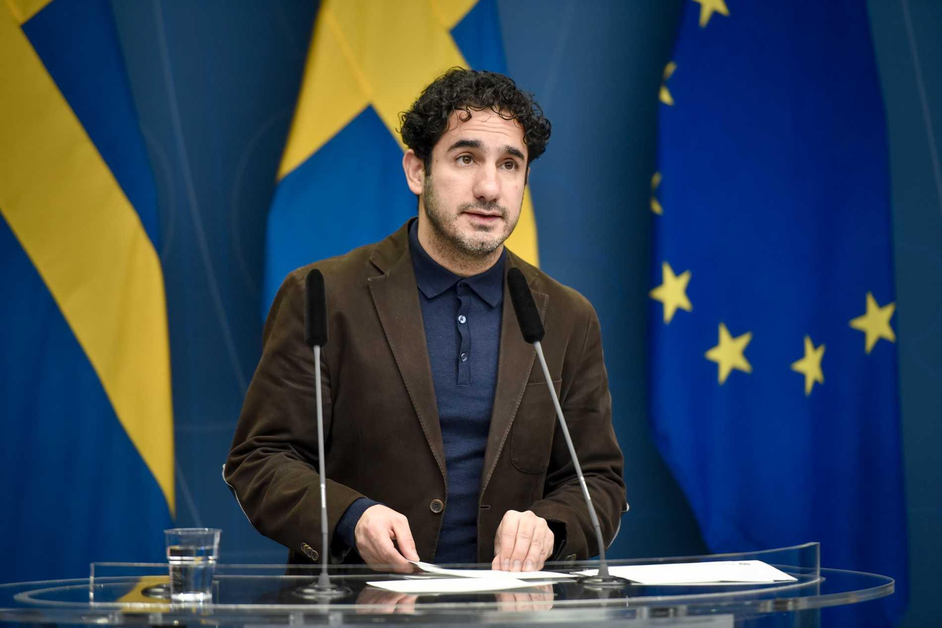 Socialförsäkringsminister Ardalan Shekarabi har ansvaret för spelfrågor i regeringen. Arkivbild.