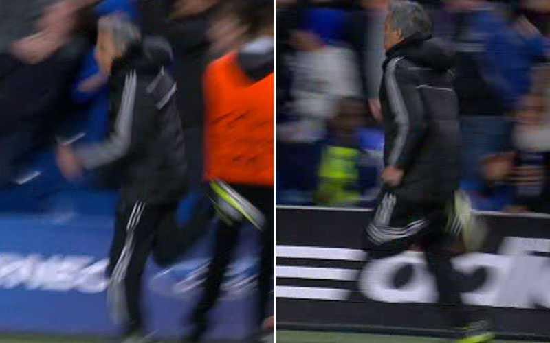 Mourinhos rusch vid 2-0-målet.