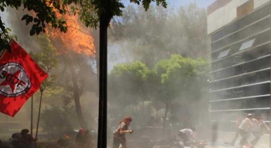 Explosionen ska ha inträffat under en presskonferens i samband med öppnandet av det kulturella centret Amara Cultural Centre.