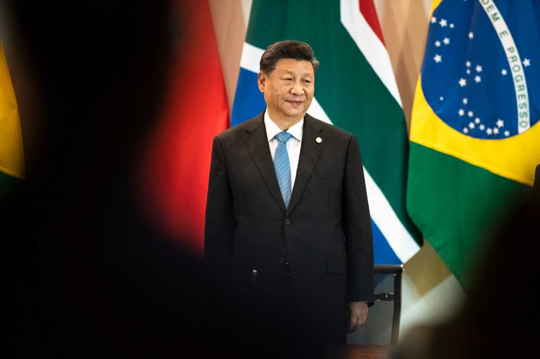 Kinas president Xi Jinping under sitt besök i Brasilien.