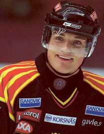 Nicholas ANGELL Ålder: 28 år Position: Back Skjuter: från höger Klubbar: Minnesotas universitet, Arboga, Frisk Asker, Bofors. Meriter: College-mästare 2002, flest poäng av en back i Norge 2005, flest poäng av en utländsk spelare i allsvenskan 2006.