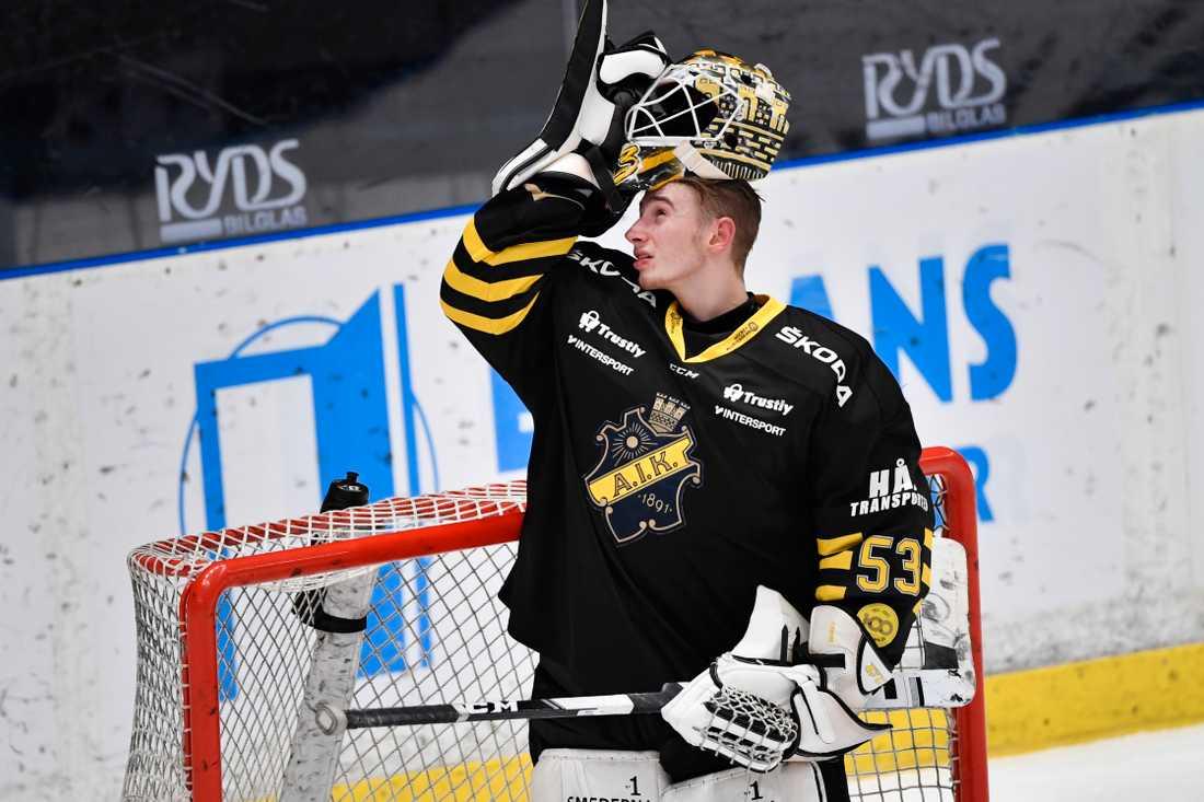 Claes Endre räddade 39 skott och höll sin första nolla i AIK-tröjan när Tingsryd hemmabesegrades i hockeyallsvenskan.
