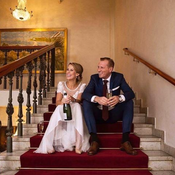Cecilia Ehrling och nyblivne maken Fredrik Danermark.