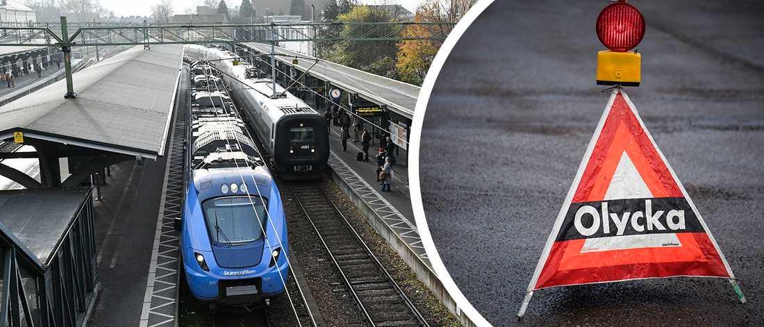 Stationen i Lund. Förseningar väntas efter olyckan i förmiddags i Svalövs kommun.