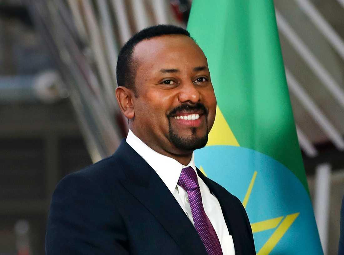 Etiopiens premiärminister Abiy Ahmed ingår i spekulationerna inför årets fredspris, bland annat på grund av de senaste årens uppmjukning av relationerna till grannlandet Eritrea. Arkivfoto.