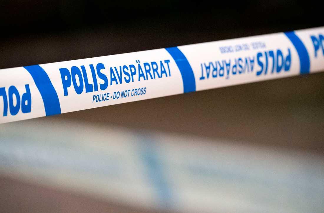 Polisen spärrade av ett område vid universitetet i Linköping. Arkivbild.