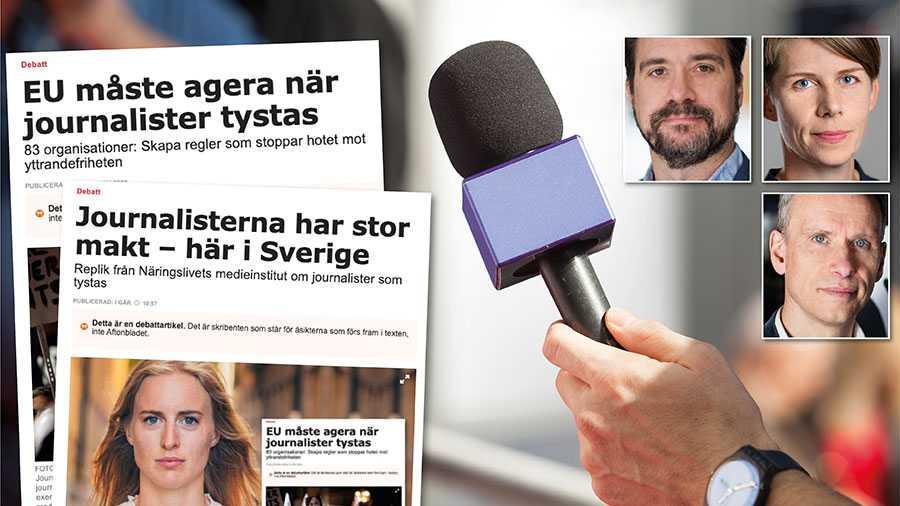 Hot och hat mot journalister är ett stort problem i Sverige. Vi vet att det leder till självcensur och att journalister lämnar yrket, skriver Erik Halkjaer, Ulrika Hyllert och John Stauffer.
