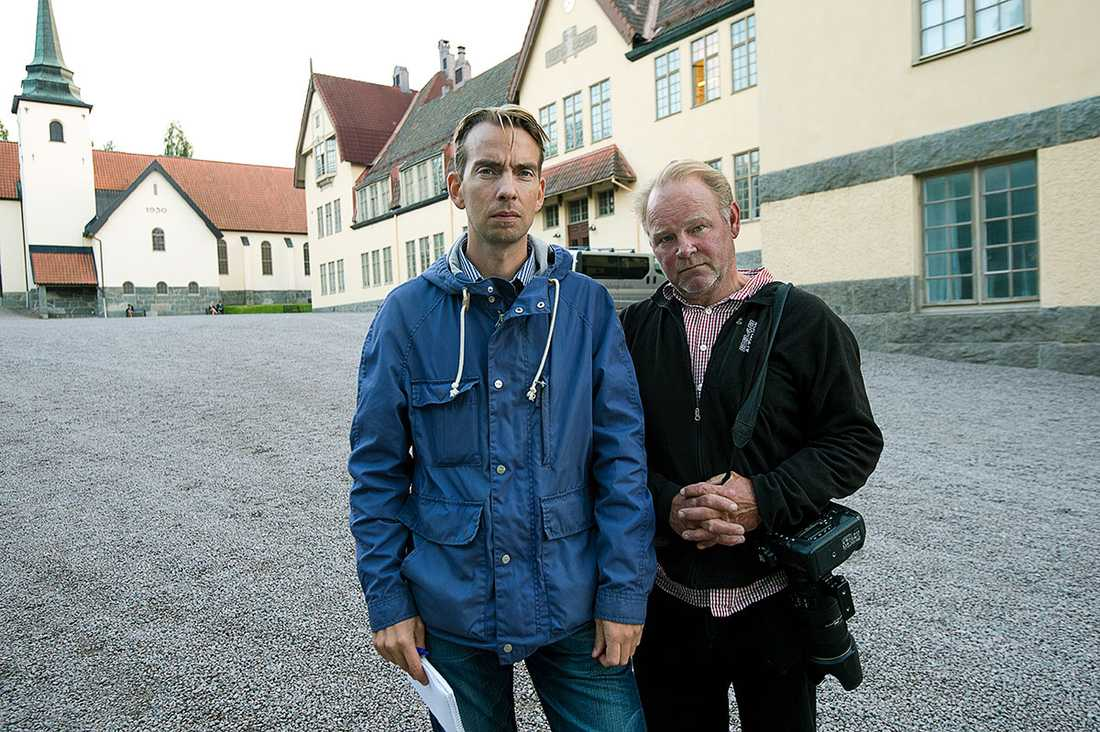 Aftonbladets reporter Oskar Forsberg och fotograf Lasse Allard.