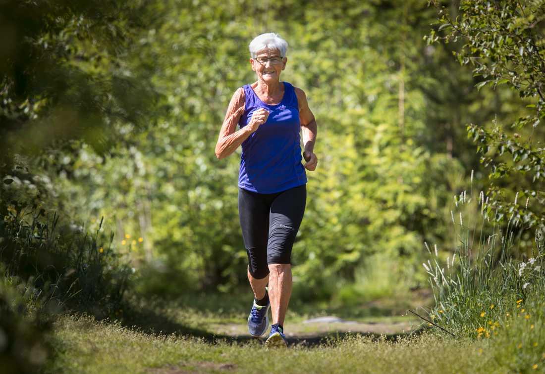 Anita Granberg, 76, tränar inför sitt 40:e lopp.