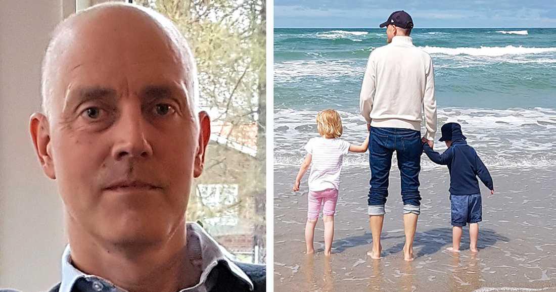 Peter Eriksson är pappa till Elsa, 5, och Axel, 4.