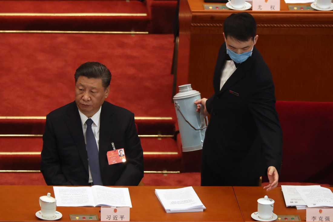 Kinas president Xi Jinping vid öppnandet av Nationella folkkongressen i maj. Arkivbild.