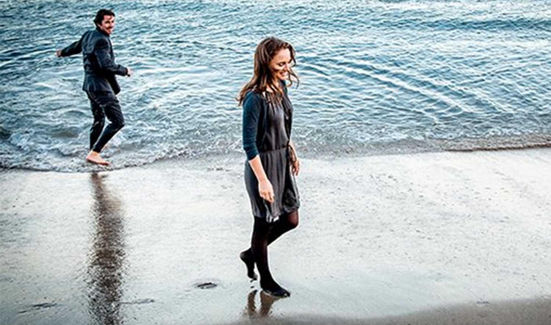 "Christian Bale och Natalie Portman i ""Knight of cups""."
