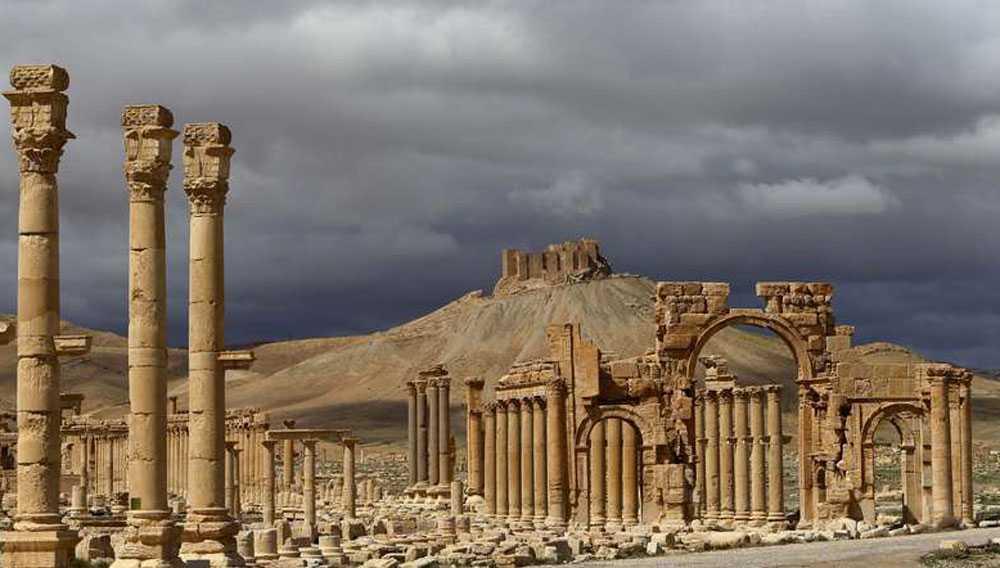 """Världsarvet hotat Palmyras ruiner från romartiden kallas """"Världscivilisationens källa"""" av historiker."""