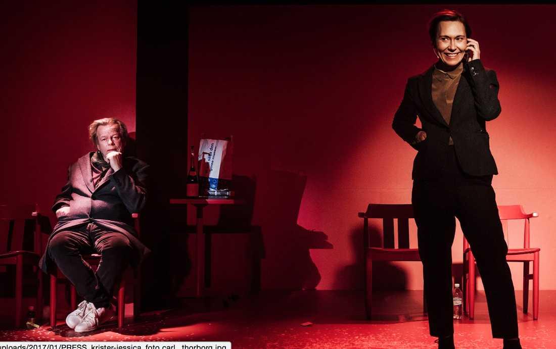 Krister Henriksson och Jessica Liedberg som Hugo och Ester på Scalateatern.