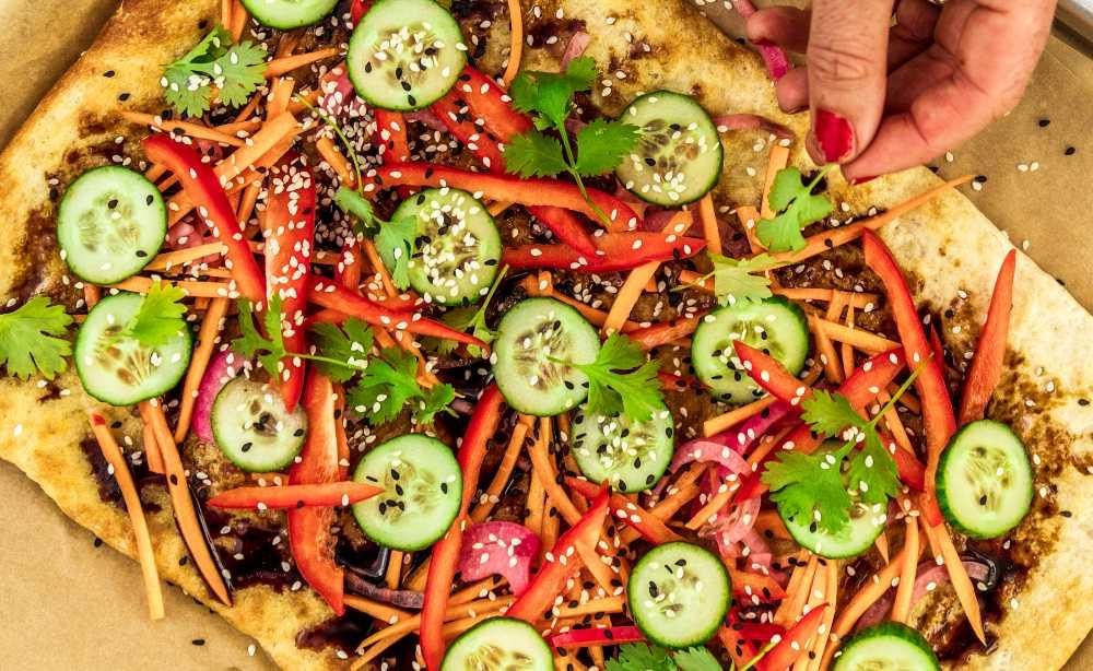 Pizza med smak av Vietnam.