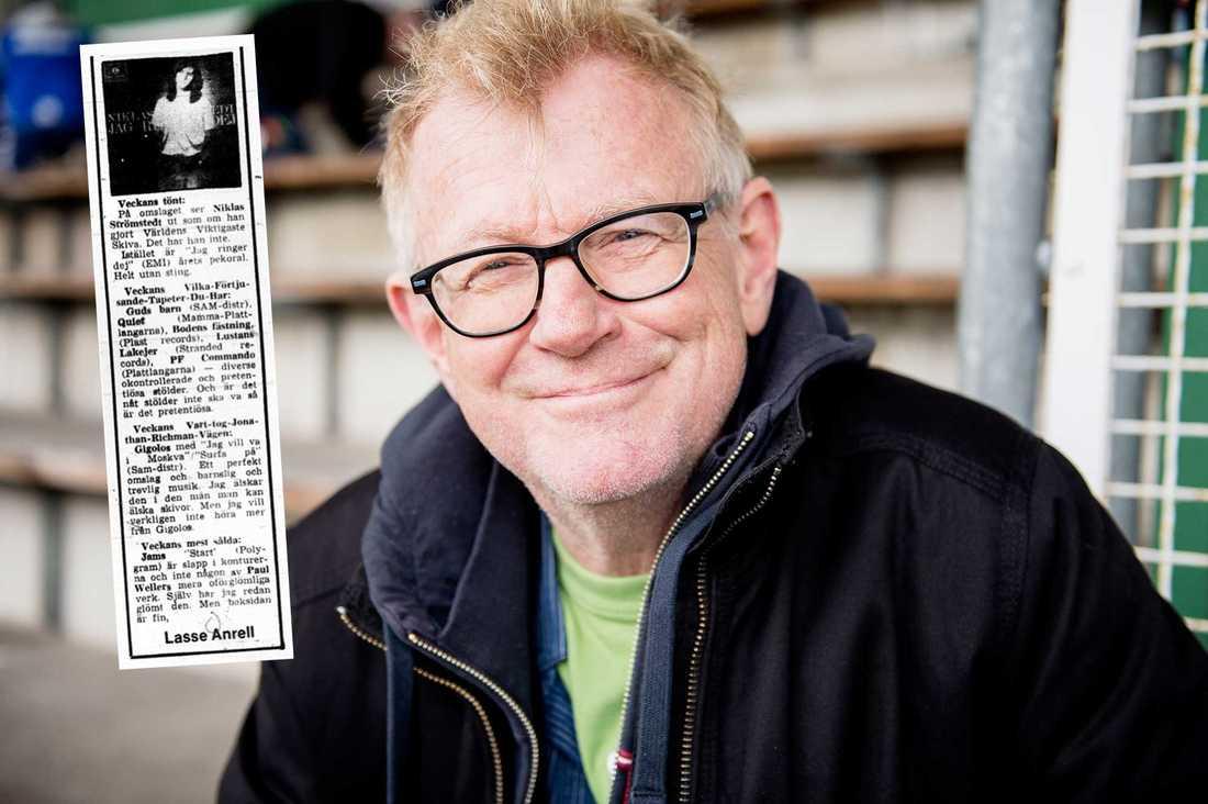 """Aftonbladets dåvarande recensent Lasse Anrell var inte impad av Niklas Strömstedts debutsingel –och utsåg honom till """"Veckans tönt"""" i Aftonbladet."""